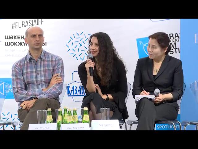 """Conférence de presse Almaty Kazakhstan pour """"Je Suis Noujoum, Dix Ans et Divorcée"""""""